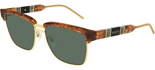 Gucci Gafas de Sol GG0603S Brown/Green 56/16/145 hombre