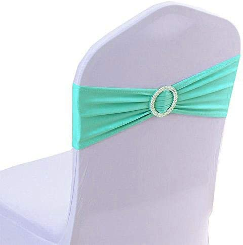 mds Pack of 新作多数 100 Spandex Chair sash Band Bow Sashes 5%OFF Elastic
