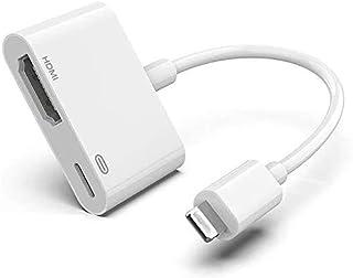 Lightning to HDMI, 8 pin Lightning to HDMI Female Video Adapter with Lightning Charging Cable, Lightning Digital AV Adapte...