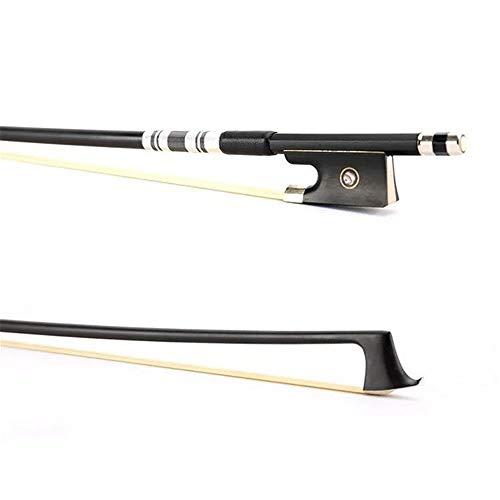 Viool Bow, nieuw spelen viool Bow 4/4 koolstofvezel Fiddle Bow viool onderdelen pak voor beginners praktijk perfecte balans glad