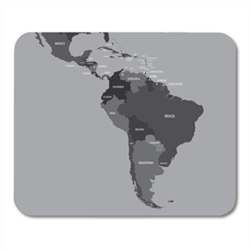 Gaming Mouse Pad Latein Mittel- und Südamerika Karte Belize Brasilien Panama Dekor Büro rutschfeste Gummi Backing Mousepad Mouse Mat