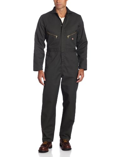 Dickies Men s Deluxe Long Sleeve Blended Coverall, Olive Green, 2X Tall