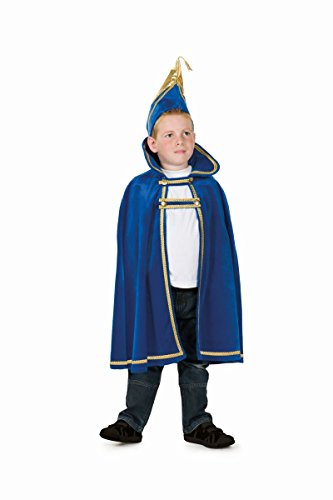 Kinder Kostüm Karnevalsprinz Cape blau Karneval Fasching Gr.152/164