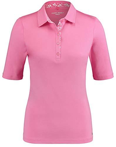 Gerry Weber Damen Poloshirt Aus Pima Cotton Figurumspielend Sorbet 48