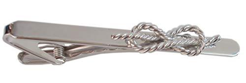 Krawattennadel Krawattenklammer Schmuck für Herren | Motiv Seemannsknoten maritim | Aus Edelstahl, silberfarben rhodiniert | Inklusuve Geschenkbox