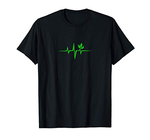 Pulse, green, heartbeat, vegan, plant, nature, environment T-Shirt