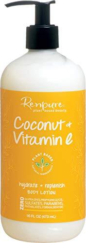 Renpure Plant-Based Beauty Coconut & Vitamin E Hydrate + Replenish Body Lotion, 16 fl oz (473 ml)