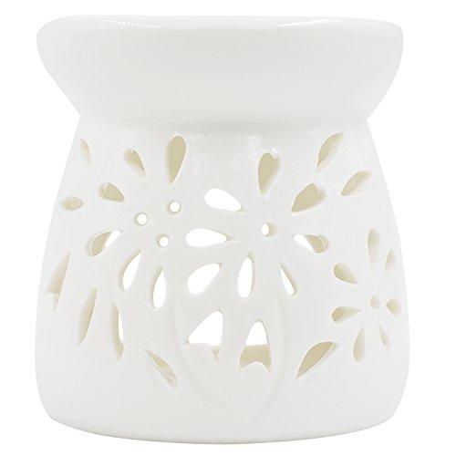 Rnow - Quemador aceites esenciales porcelana agujero