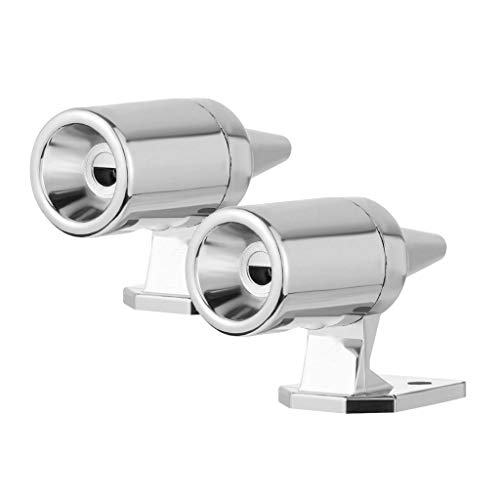 Save a Deer Whistles, Tuscom 2 Pack Animal Friendly Warning Whistle Deer Alert Ultrasonic Wildlife Warning Devices for Cars Motorcycles Truck SUV, 1.97'X1.26'X7.87' (Silver)