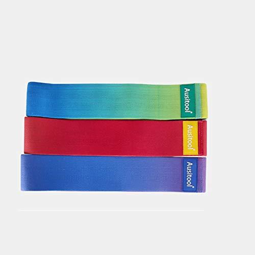 Bandas de resistencia de color degradado, antideslizantes, elásticas, para levantamiento de cadera, para mujer, para ejercicios de yoga