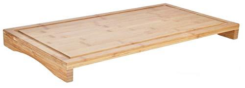 Haushalt International HI 28031 Schneidbrett Abdeckplatte Bambus 54x28cm
