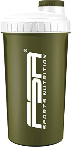 Shaker 700 ml, Preparador de batidos de proteínas y BCAA, libres de BPA y a prueba de vertidos, de la marca de deporte profesional FSA Nutrition - Verde