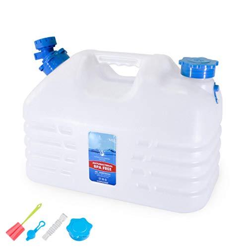 10.5L Contenedor De Agua Portátil con Grifo, Cubo De Agua De Plástico Espesado, Cubo No Tóxico Sin BPA, Acampar, Caminar, Escalar U Otras Actividades Al Aire Libre De Viaje