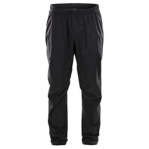 Haglöfs Regenhose Herren Outdoorhose L.I.M Proof Wasserdicht, Winddicht, Atmungsaktiv, Kleines Packmaß True Black S S - Empty for carryovers -