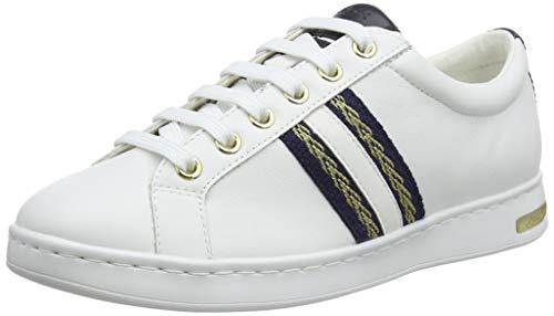 Geox D Jaysen A, Scarpe da Ginnastica Basse Donna, Bianco (White C1000), 42 EU