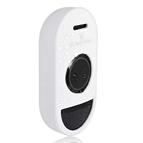 Schützende Silikonhülle kompatibel mit Arlo Smart Doorbell - Zubehör und Schutz für Ihre Audio-Türklingel (weiß)