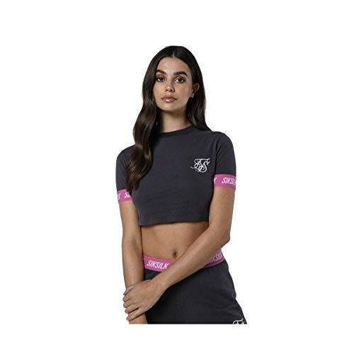 Sik Silk Camiseta Elastic Crop Gris 8 XS (X-Small)