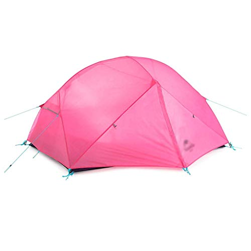 YXDEW Tents/Tent with Screen Room Double Aluminum Pole Outdoor Tent Double Waterproof Tent Camping Hiking Picnic Tent Tent for Camping with camping (Color : Pink b)