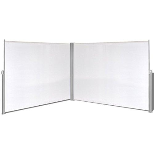 FESTNIGHT Tenda da Sole/Paravento da Giardino Laterale Retrattile 180x600 cm Crema