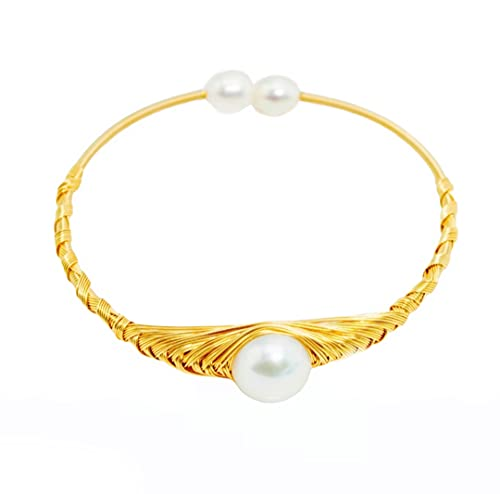 Pulsera con perlas de agua dulce bañadaen Oro Rosa.Pulsera con perlas cultivadas 8-9mm multicolor y...