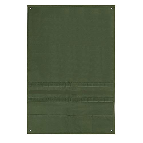 Aoutacc Taktische militärische Patchhalter Board Hook & Loop Moral Patch Panel (Olive Drab, 58x88cm with MOLLE Webbing Pockets)