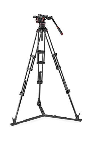 Manfrotto MVKN12TWINGC Nitrotech N12 Professionelle Flësseg Videokopf (mat Duebelröhre Kuelestativ a Biedespann fir DSLR, Spigellos, Video a Filmkameraen bis 12 kg)