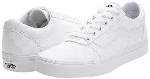Vans Ward Canvas, Sneaker Donna, Bianco ((Checkerboard) White/White W51), 37 EU