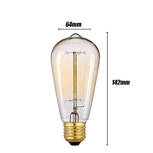 Kejing kroonluchter moderne hanglamp 4 stuks gloeilamp vintage gloeilamp gloeilamp Edison E27 220 V 40 W 25 W 60 W 64 x 142 mm antieke lampen 3C Fcc Rohs woonkamer 25we27