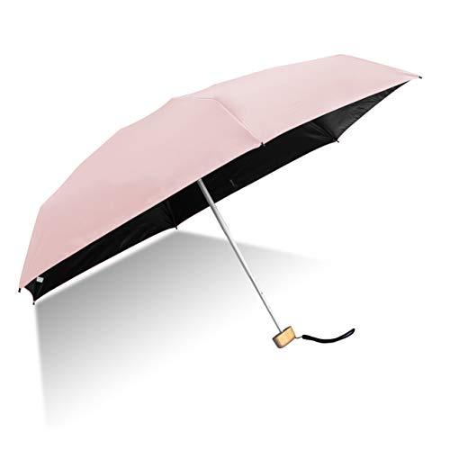 GXYUVW Mini Compact Sun&Rain Umbrella Lightweight Portable Small Umbrella Travel Parasol with 96% UV Protection(Pink)