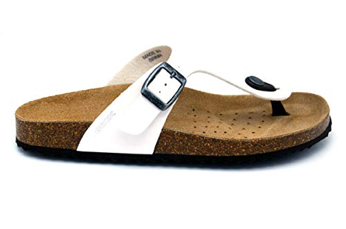 Geox - brionia flip flops - 37 - white