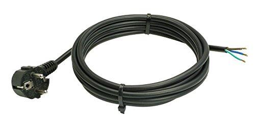 as - Schwabe 70832 PVC-aansluitkabel, zwart, 3m H05VV-F 3G1,0, 230 V