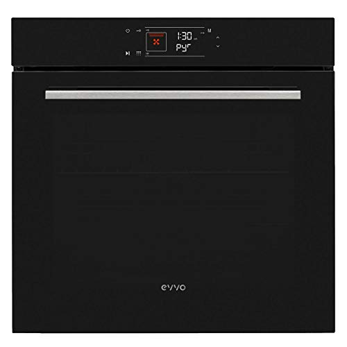 EVVO Horno H3-2600W, 78 litros, 8 funciones, Sistema de limpieza pirolítico, Programa de cocción automática, Eficiencia energética de Clase A