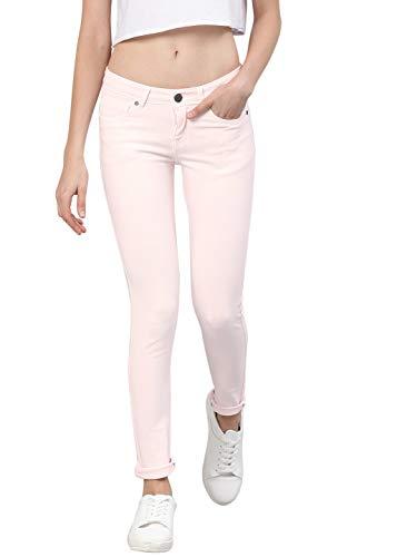 AMERICAN CREW Women's Slim Fit Jeans (ACWJN360-34_Pink_34)