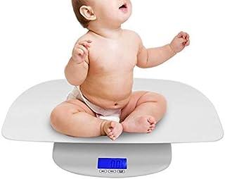 Báscula de peso corporal inteligente, escala de peso digital electrónica de bebé de plástico HD LCD Herramienta de medición infantil recién nacida con precisión: la calidad es nuestra cultura(Blanco)