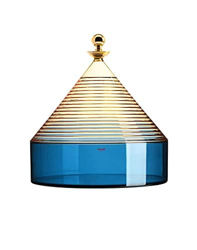 Kartell Trullo Contenitore, Giallo/Blu, H27 x Ø 25 cm