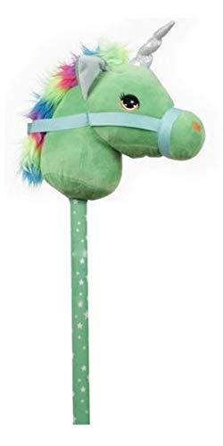 GERILEO Steckenpferd Einhorn Spielzeug - Plüschpferd - Verschiedene tolle Farben (Grüne)