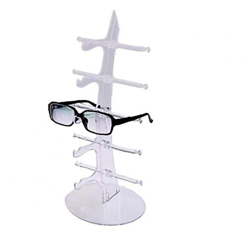 KHHGTYFYTFTY 1PC Lentes sostenedor del Soporte de Manera Marco Estante de exhibición con 5 Pares de anteojos de Sol - Blanco