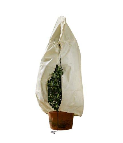 2 St/ück CT Winterschutz f/ür Pflanzen K/übelpflanzensack Frostschutzhaube Frostschutzvlies beige super Stark mit Kordelzug L 100 x 80cm