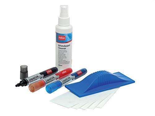 Nobo Whiteboard-Starterset (Marker, Tafelwischer, Reinigungsspray)