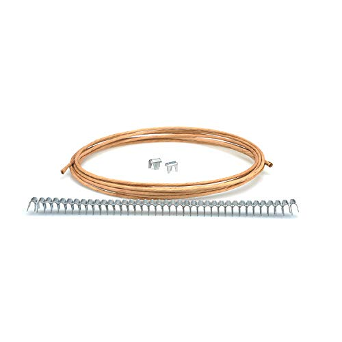 DERRILLA Upholstery Supply Spring Repair Kit for Sofa Furniture Springs 40 Stay Wire Clips£¬16 Gauge 20ft Paper Wrapped Wire