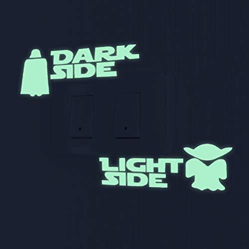 Nacnic Star Wars Leuchtsticker Wandaufkleber. Fluoreszierende Yoda