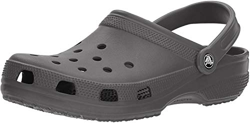 Crocs Classic Unisex Adults T-Bar Pumps, Grey (Slate Grey), 9 UK