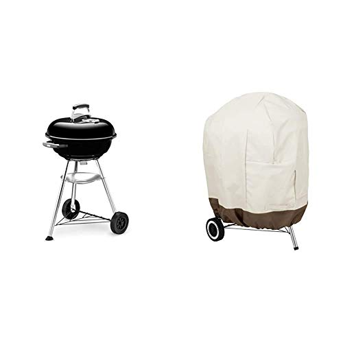 Weber Compact Charcoal BBQ, 47cm, Black & Amazon Basics...
