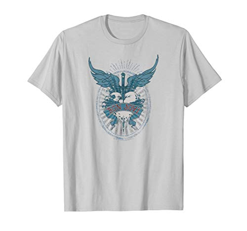 Bon Jovi Winged Heart T-Shirt, Adult and Child Sizes