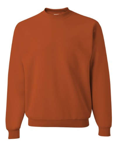 JERZEES - Crewneck Sweatshirt. 562M, MEDIUM, Texas Orange