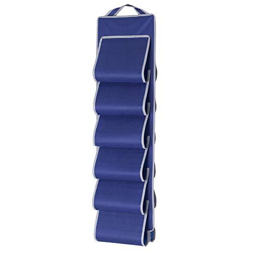 Hängeschrank für Schuhe 30x100 cm für Camping und Haushalt mit 12 Fächern platzsparend zusammenklappbar • Schuhschrank Schuhorganizer Hänge Tasche Organizer Schuhaufbewagrung
