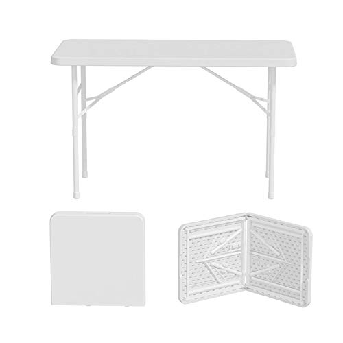1.2m Folding Table Outdoor Picnic Portable Household Rectangular Long Table Studying Eating Table Thick Steel Pipe High Density Polyethylene Material