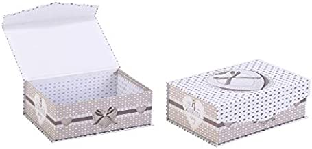 Bosphorus Storage Box, White/Silver, Large, 20032