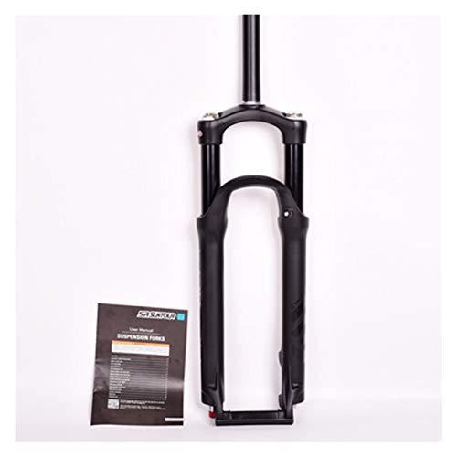 WFBD-CN Mountainbike-Gabel Fahrradgabel 26/27,5 / 29er 100mm Berg MTB Fahrradgabel der Luftdämpfung Vorderer Gabel Remote Federung Gabel Fahrradsuspension Gabeln. (Color : 26er Shoulder Black)