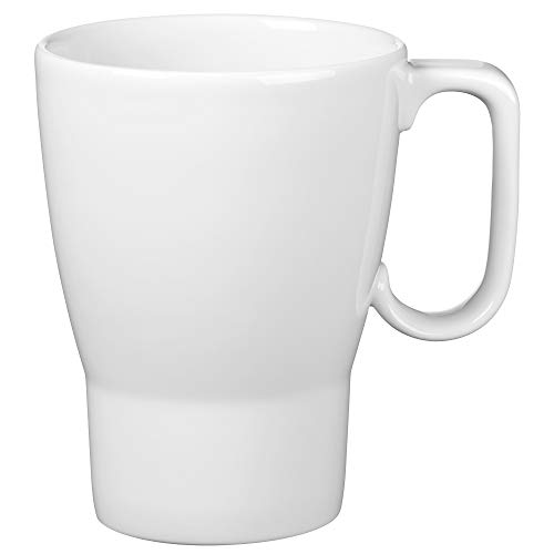 WMF Barista Kaffeebecher 380 ml, Kaffeetasse mit Henkel, Porzellan, spülmaschinengeeignet